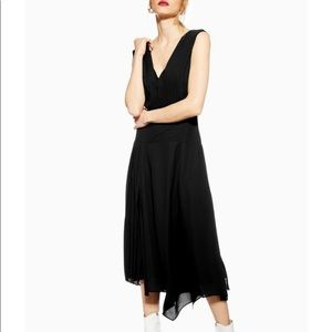 NWT Topshop Pleated Pinafore Midi Dress, 4